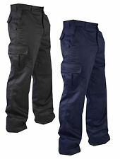 New Mens Cargo Combat Work Trousers Colour Black Navy Khaki Size 28 to 50