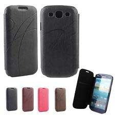 Galaxy S3 Case, Flip PU Leather Case Hard Cover For Samsung SIII i9300 + Film