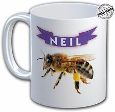 Personalised  BEE   MUG , Can Add Any Name and Text free- IL 7255