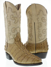 """""""Men's Sand Crocodile Alligator Tail Western Leather Cowboy Rodeo Riding Boots """""""