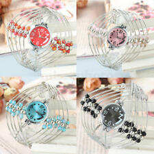 Lady Stainless Steel Silver Tone watchband Bracelet Bangle Quartz Wrist Watch
