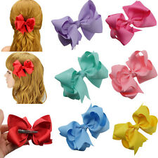 "12x 4"" Wholesale Hair Clips Bows Girls Baby Grosgrain Boutique Bowknot Headband"