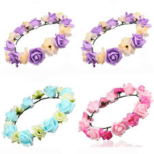 Flowers Garland Floral Bridal Headband Hairband For Wedding Party Prom Hair Band
