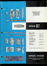 Rare Vintage 1960 Amphenol CB Radio Ham Antenna TV Connectors Catalog B7