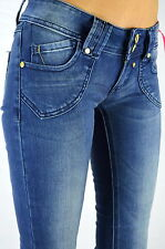 Blue Rags Jeans Women Pants Skinny Jeans slim fit stretch medium Blue wash new