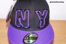 New NY Flat Peak Cap Lace Fitted Hat with Extra Lace