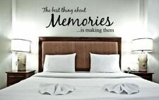 The Best Thing About Memories Is Making Them Wall Quote Wall Decals & Stickers