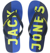 BNWT Means Jack & Jones Logo Rubber Flip Flops Footwear Dress Blue