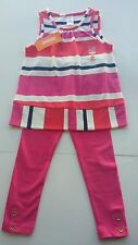 NWT. Gymboree girls ciae puppy Striped Top  with  Matching  leggings