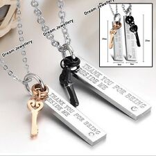 Best Friiends Necklaces Couple Necklace Crystal Jewellery Gifts for Husband Wife