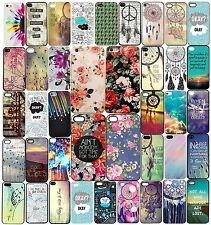 2016 New Fashion Cute Flower Pattern Hard Back Phone Case Cover For iphone Model