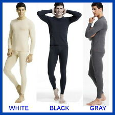 BRAND NEW MENS THERMAL SET 2PC TOP BOTTOM UNDERWEAR LONG JOHN M L XL 2X 4 COLORS