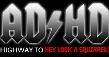 AD/HD Highway To HEY LOOK A SQUIRREL ADHD ACDC - HIGH QUALITY PRINTS FA-0064