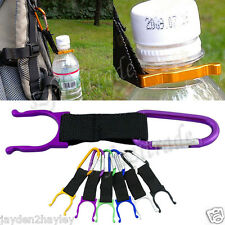 Bag Carabiner Belt Clip Water Bottle Holder Hiking Camping Snap Hook Key Chain