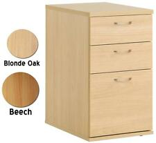 Eco 3 Drawer Office Pedestal   Desk High    A4 and Foolscap Files   Beech or Oak