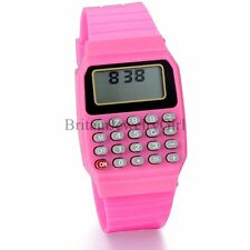 Fashion Mens Womens Classic Electronic Wrist Calculator Watch Child Student Gift