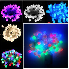Hanging 10M 100 Ball LED Bulbs String Christmas Fairy Lights Indoor Outdoor Xmas