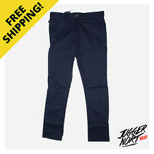 DICKIES Skinny Straight Pants WP801 Dark Navy - Authentic - FREE Postage
