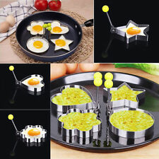 Cooking Kitchen Stainless Steel Fried Egg Shaper Ring Pancake Mould Mold