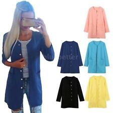 Fashion Womens Warm Long Winter Parka Coat Jacket Outerwear Candy Colors F09I