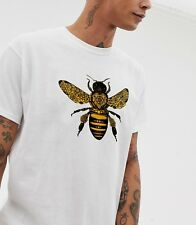 Bee Baroque T-shirt Moth Insect Tattoo Illustration Tee Indie Mod Hipster Top