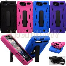for droid razr XT912 cell phone 2 layers case skin w/ kickstand & port covers