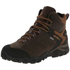 Merrell Mens Chameleon Shift Mid Waterproof Brown Hiking Shoes Trail Boots