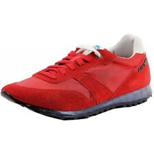 Diesel Shoes Mens Choplow RED Suede Casual Sneaker Translucend Midsole T4005