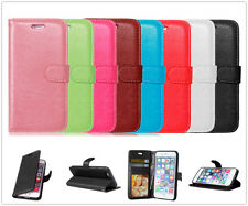 For iPhone Samsung Luxury Card Wallet Magnetic Flip Leather Case TPU Cover Pouch