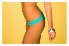 Teal Blue Side Loop Bikini Bottoms (Scrunch Butt or NO Scrunch) - New