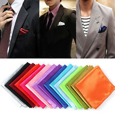 15 colors Men Pocket Square Hanky Handkerchief Plain Solid Wedding Formal Party
