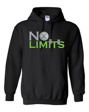NO LIMITS Workout Bar Bells Lifting Body Building Building Unisex Hoodie 1291