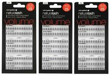 Salon System Individual Naturalash False Eye Lashes in Black - 3 For 2 Pack