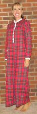 Nightgown Flannel Long Plaids Cozy and Pretty 'Made in USA'