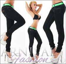 NEW SEXY LADIES BLACK JEANS + BELT skinnies online WOMEN'S DENIM JEAN HOT PANTS