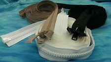 "#10 YKK Marine Zippers Black Beige White 6""- 240"" Heavy Duty Separating UV HD"