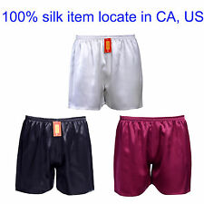 1pc Mens 19 Momme 100% Pure Silk Sport Jogging Football Active Shorts Underwear