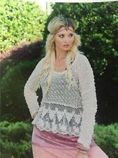 NWT SACRED THREADS VINTAGE BOHO EMBROIDERY/LACE TRIM KNIT TOP IVORY SZ S,M,L,XL