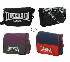 LONSDALE SCHOOL COLLEGE FLIGHT MESSENGER BAG SATCHEL BRANDED