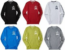 AERO Aeropostale Men Long Sleeve A87 NYC Graphic T Shirt Tee XS,S,M,L,XL,2XL,3XL