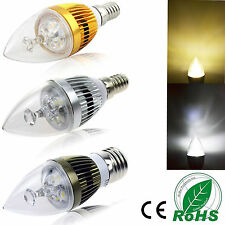 Dimmable E12 Base E27 E14 High Power LED Sharp Chandelier Bulb Candle Light Lamp