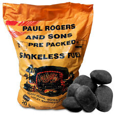 Smokeless Ovals Coal Briquettes Fuel for Open Fires, Multi Fuel Fire & Stoves