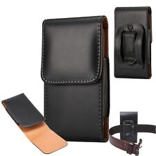 PU Smooth Plain Leather Flip Clip Belt Pouch Holster Carrying Case Bag Sleeve