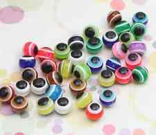 50/100pcs  Acrylic eye beads round beads colorful beads scattered beads