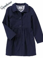 NWT Gymboree Gym Navy Trench Coat  Fully Lined  Uniform Shop 4,5,6,7,8,10,12