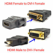 DVI-I Female to HDMI Male/Female Video Cable Connector Adapter For Plasma HDTV