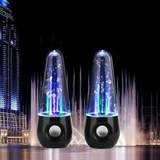 A PAIR OF WATER DANCING STEREO SPEAKER FOUNTAIN LED RHYTHM FOR VERIOUS  PHONES