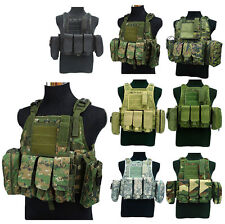 Hot Chest Rig Webbing Airsoft Tactical Swat Molle Combat Assault Paintball Vest
