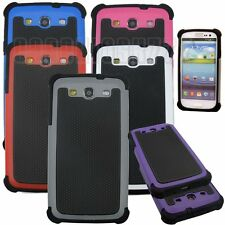 for samsung galaxy S3 rugged hybrid 3 layers i9300 case blue gray hot pink white