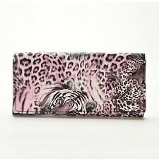 Lady Women Tiger Leopard Print Long Wallet Purse Coin Bag Card Holder Clutch C13